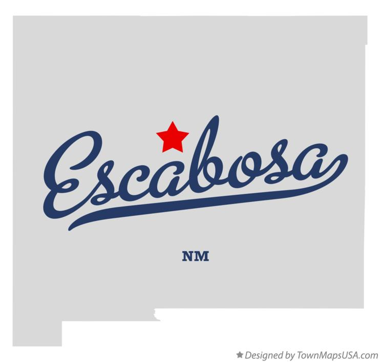 Map of Escabosa New Mexico NM