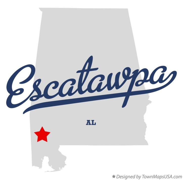 Map of Escatawpa Alabama AL