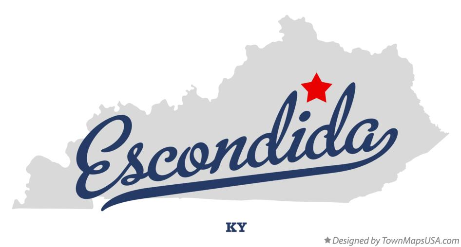 Map of Escondida Kentucky KY
