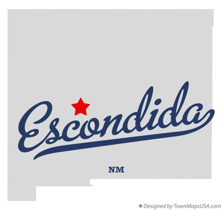 Map of Escondida New Mexico NM