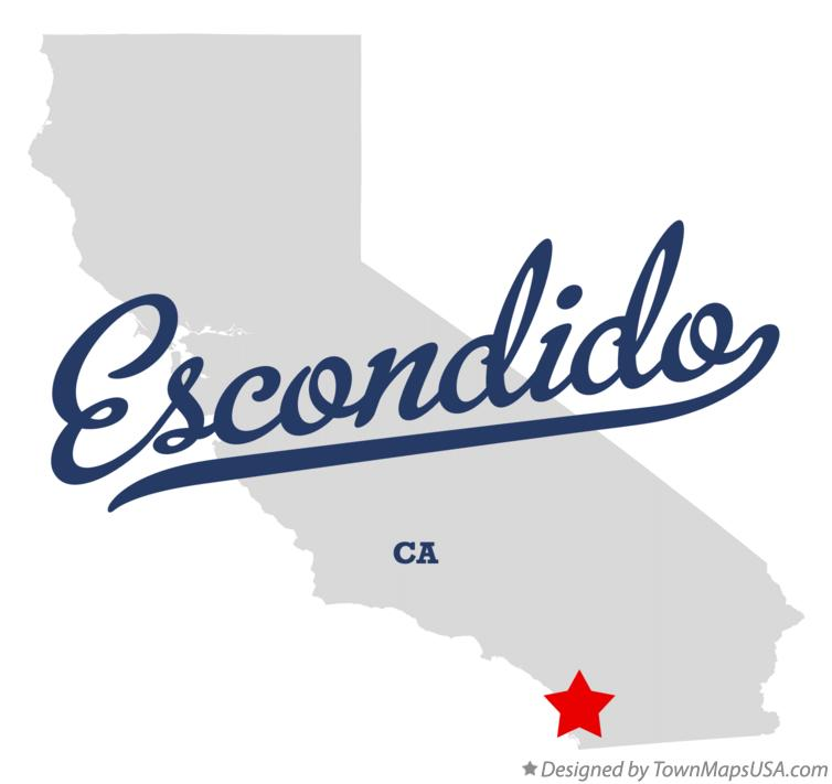 Map of Escondido California CA