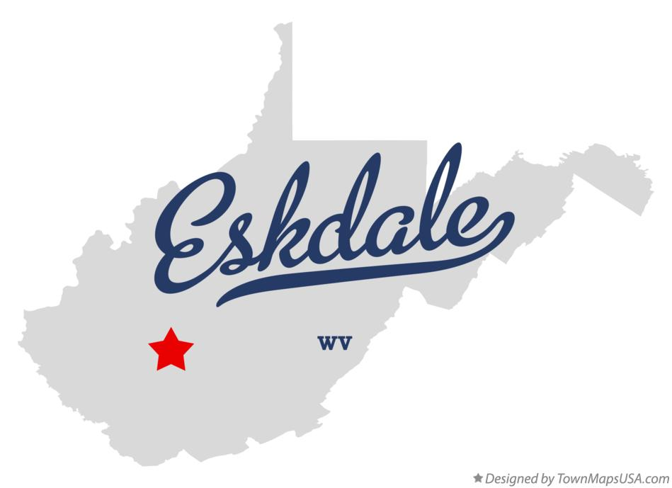 Map of Eskdale West Virginia WV