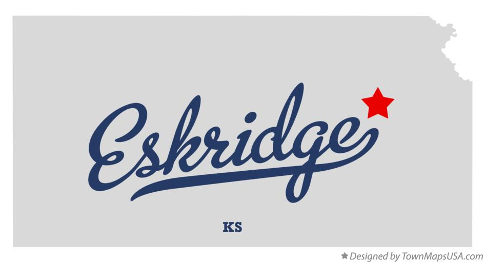 Map of Eskridge Kansas KS