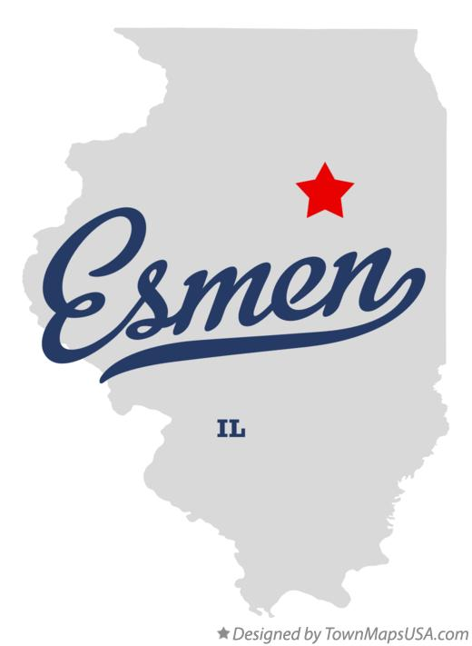 Map of Esmen Illinois IL