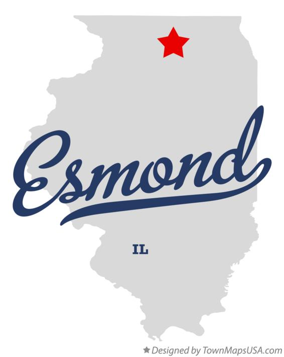 Map of Esmond Illinois IL