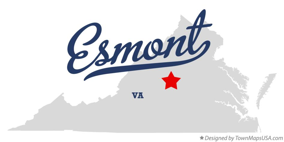 Map of Esmont Virginia VA