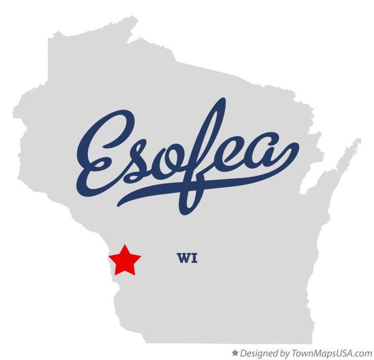 Map of Esofea Wisconsin WI
