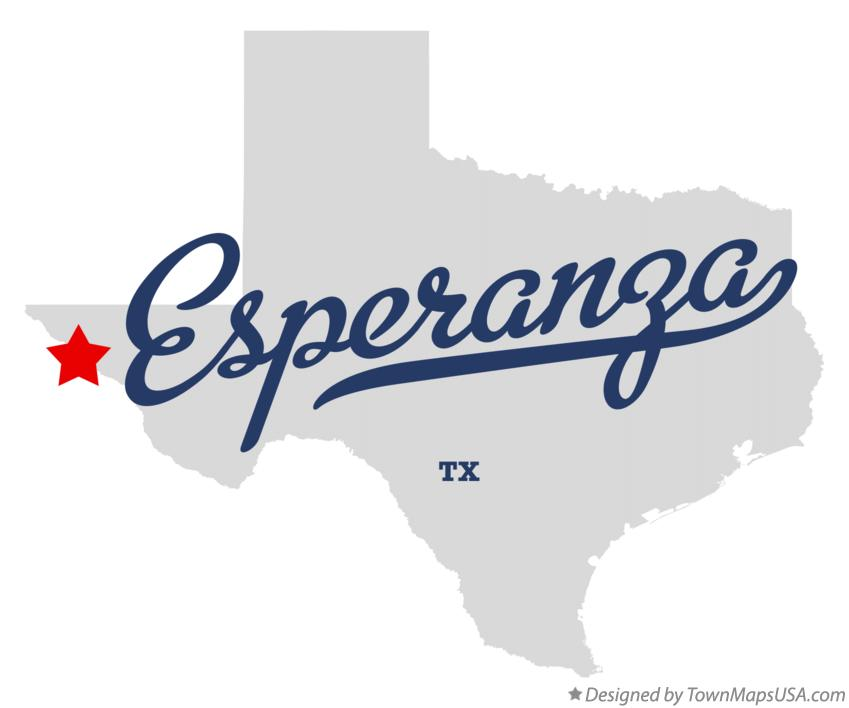 Map of Esperanza Texas TX