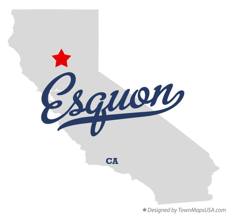 Map of Esquon California CA
