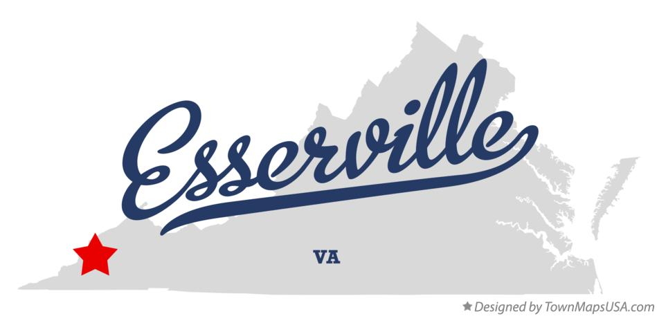 Map of Esserville Virginia VA