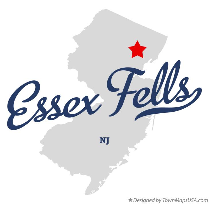 Map of Essex Fells New Jersey NJ