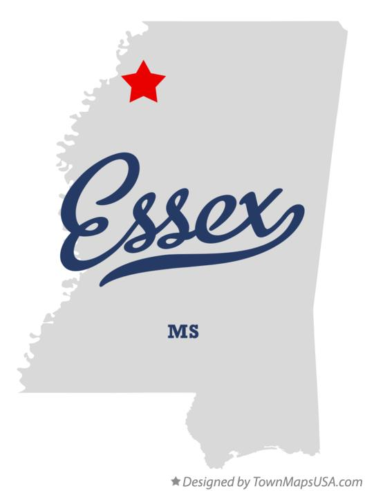 Map of Essex Mississippi MS
