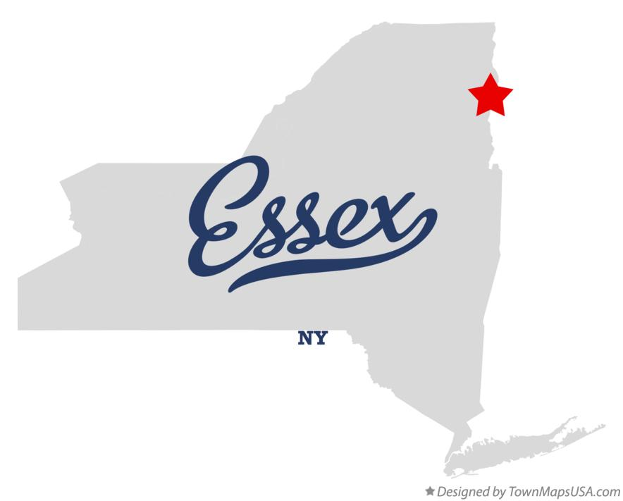 Map of Essex New York NY