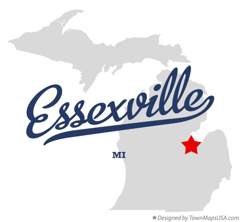 Map of Essexville Michigan MI