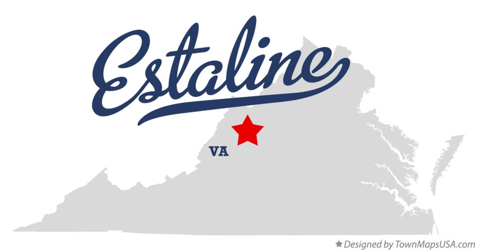 Map of Estaline Virginia VA