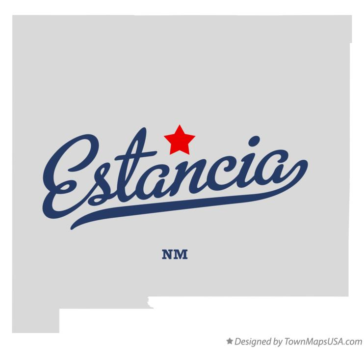 Map of Estancia New Mexico NM