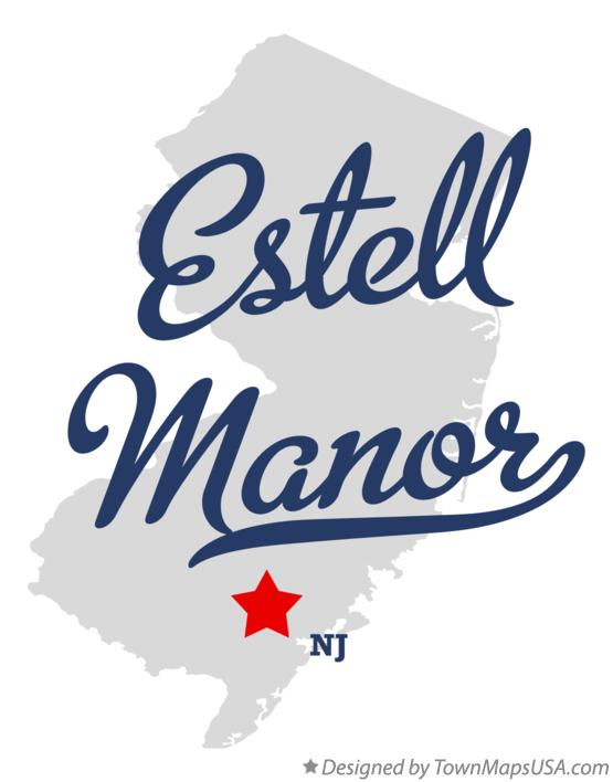 Map of Estell Manor New Jersey NJ