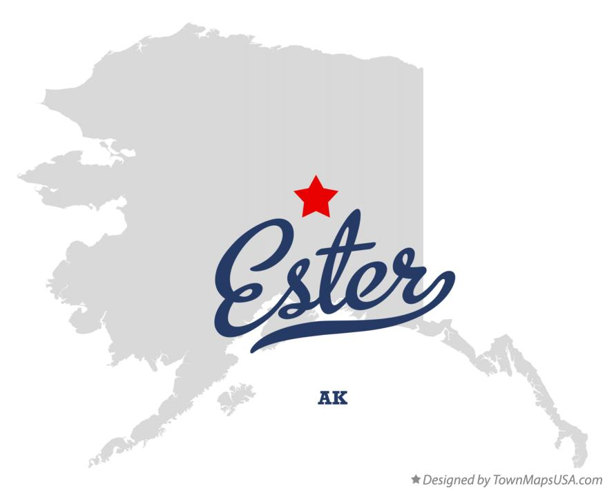 Map of Ester Alaska AK