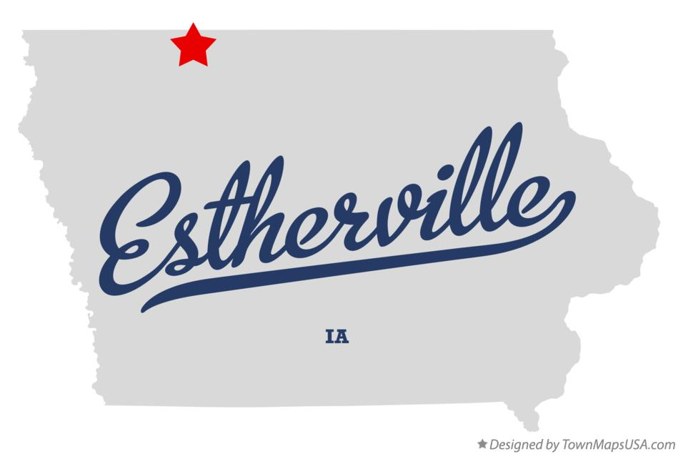 map of estherville iowa Map Of Estherville Ia Iowa map of estherville iowa