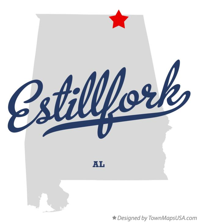 Map of Estillfork Alabama AL