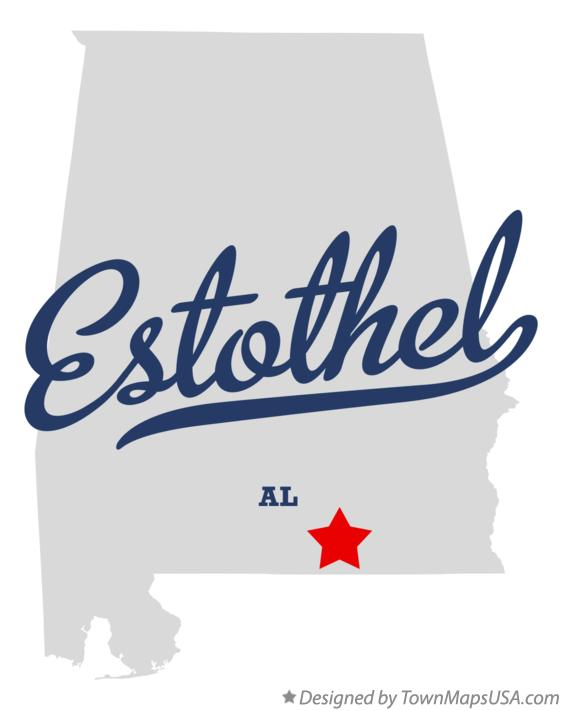 Map of Estothel Alabama AL