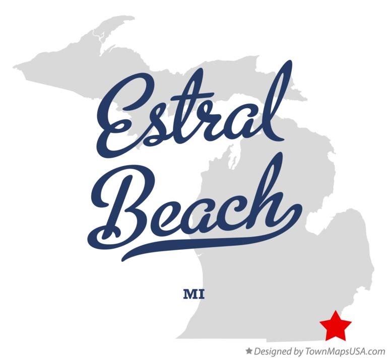 Map of Estral Beach Michigan MI