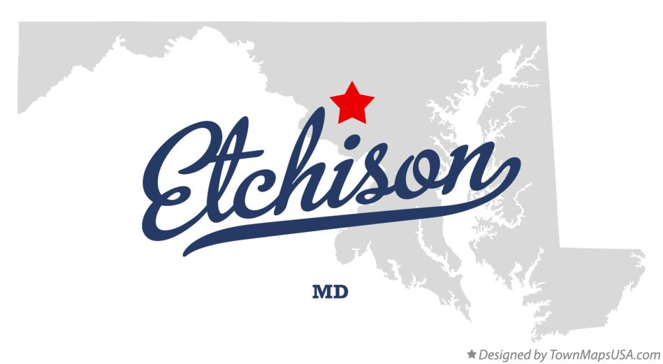 Map of Etchison Maryland MD