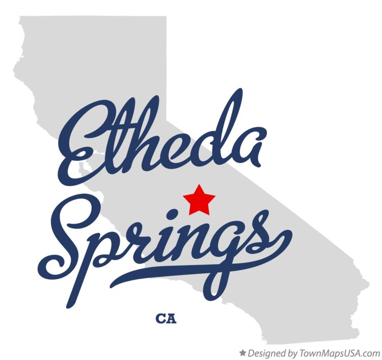 Map of Etheda Springs California CA