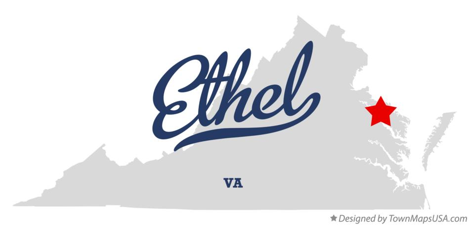 Map of Ethel Virginia VA