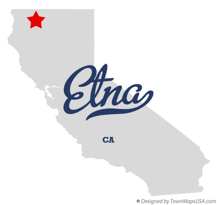 Map of Etna California CA