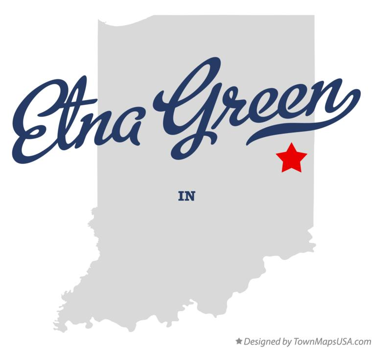 Map of Etna Green Indiana IN