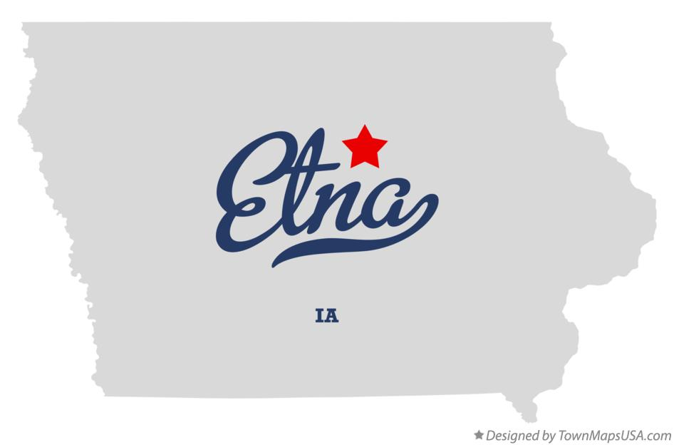 Map of Etna Iowa IA