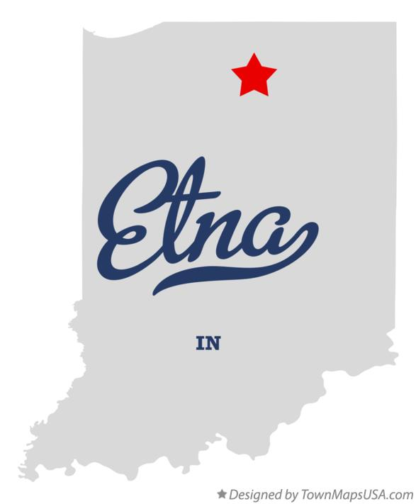 Map of Etna Indiana IN