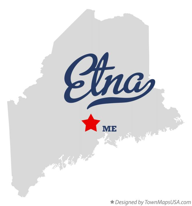 Map of Etna Maine ME
