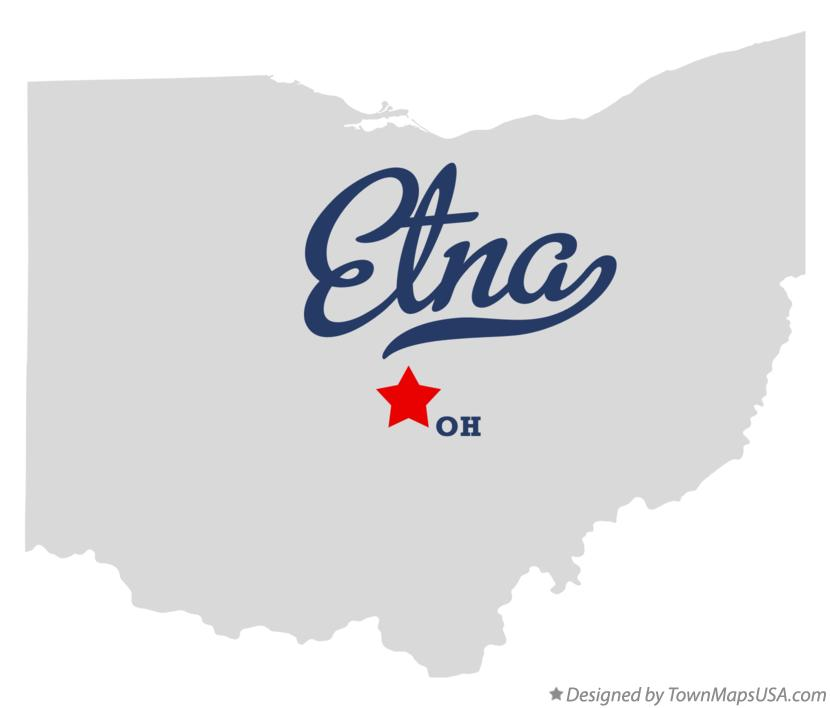 Map Of Etna Licking County Oh Ohio