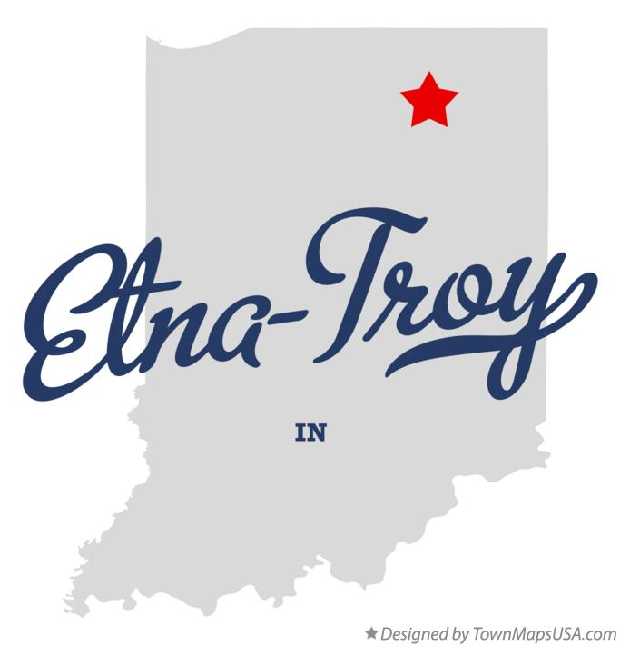 Map of Etna-Troy Indiana IN