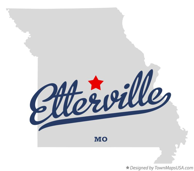 Map of Etterville Missouri MO