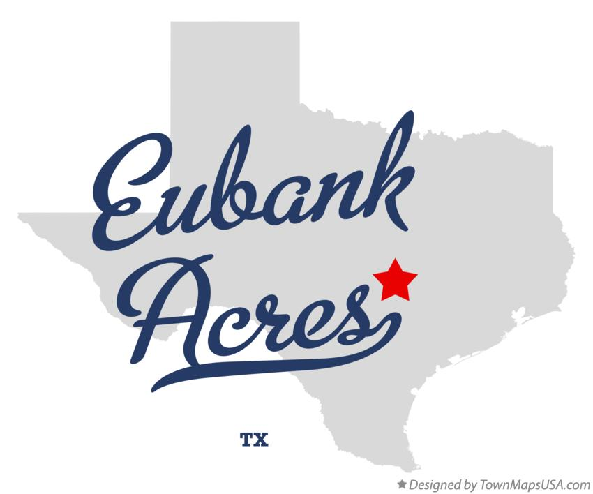 Map of Eubank Acres Texas TX