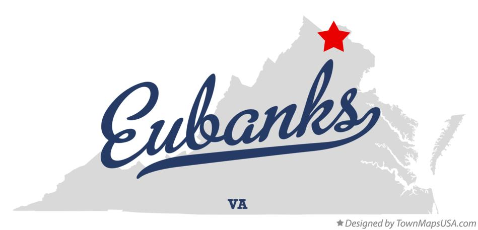 Map of Eubanks Virginia VA