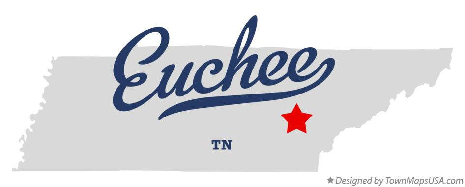 Map of Euchee Tennessee TN