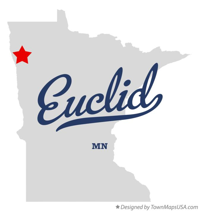 Map of Euclid Minnesota MN