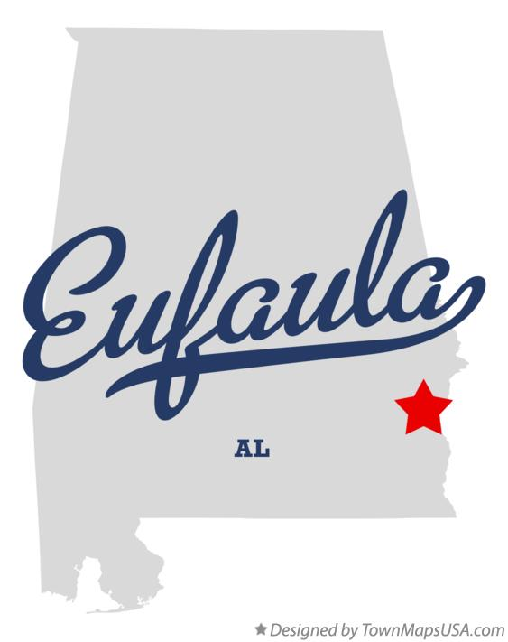 Map of Eufaula Alabama AL