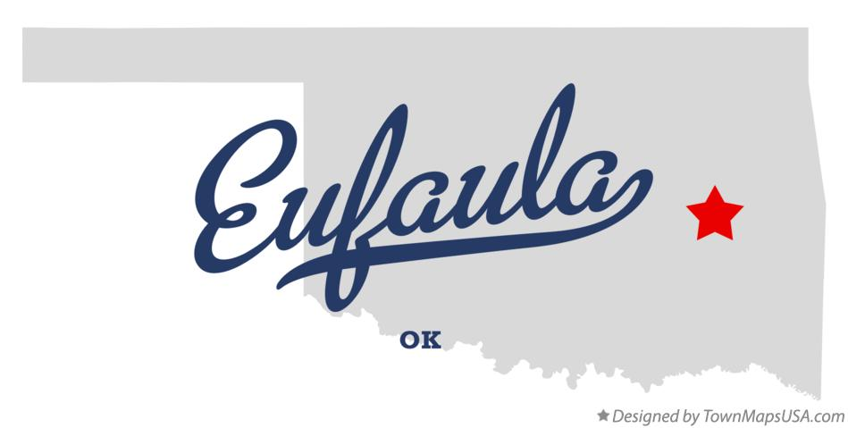 Map of Eufaula Oklahoma OK