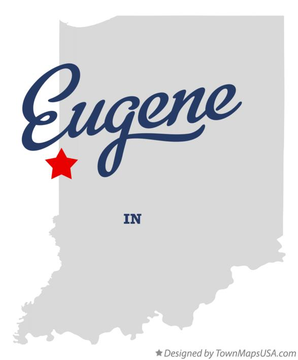 Map of Eugene Indiana IN