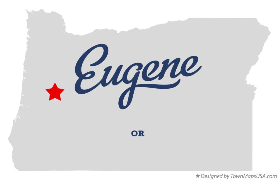 Map of Eugene Oregon OR