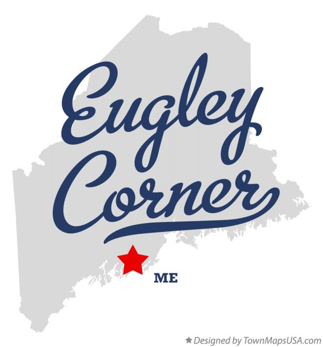 Map of Eugley Corner Maine ME