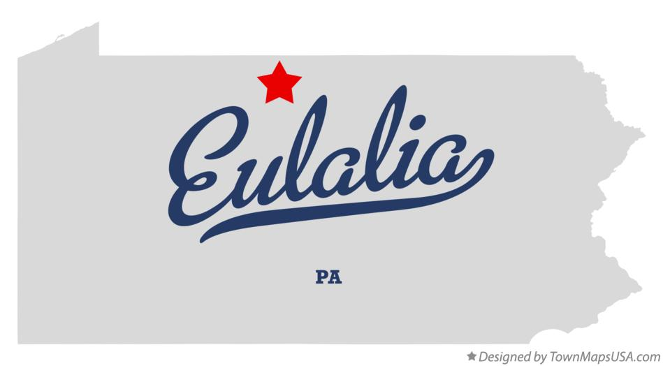 Map of Eulalia Pennsylvania PA