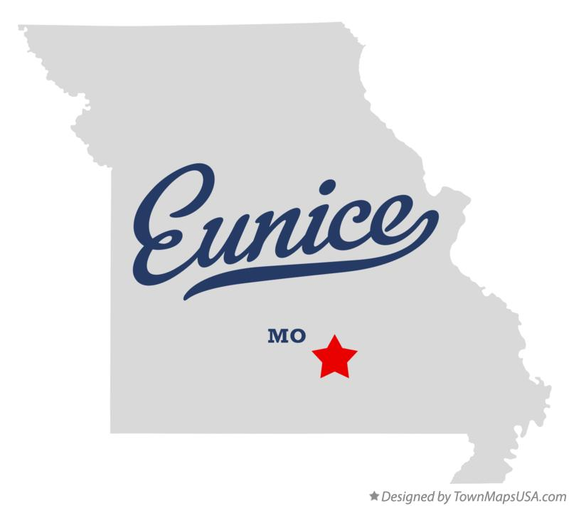 Map of Eunice Missouri MO