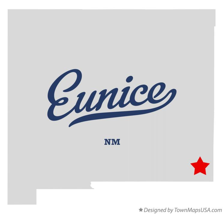Map of Eunice New Mexico NM