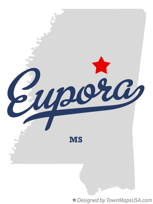 Map of Eupora Mississippi MS